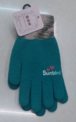 New Mix Design Ladies Woolen Gloves, Size: Free
