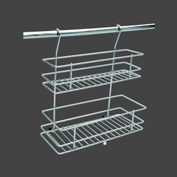 Silver Hang On Wall Stainless Steel Basket