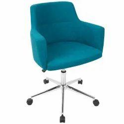 Velvet Designer Cafeteria Revolving Chair