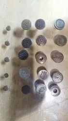 Mild Steel Round Garment Buttons, For Garments, Packaging Type: Packet