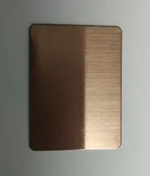 Stainless Steel Bronze Hairline Finished Sheet