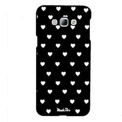 Black, White Plastic Samsung Mobile Back Cover