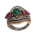 Trendy Colored Turkish Ring