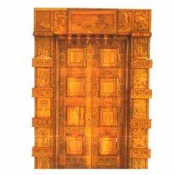 Natural Glossy Teak Wood Wooden Antique Door, For Home,Villa etc