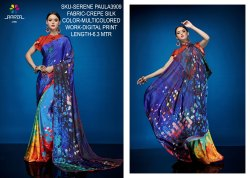 Rachna Crepe Silk Digital Printed Serene Paula Catalog Saree For Women 9