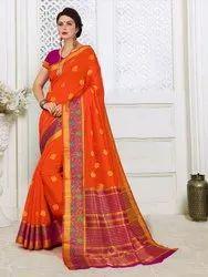 Cotton Silk Party Wear Weaving  Saree ,5.5mtr