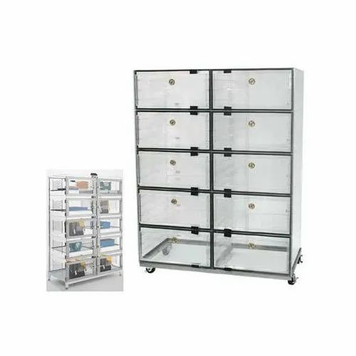 Glass,Aluminium 5-6 Feet Clean Room Desiccator Cabinet