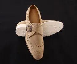 Zohva Buckle Type Closure Men's Sand Suede Leather Shoe