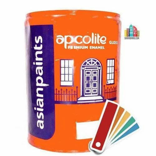Asian Paints High Gloss Gloss Apcolite Enamal Asian Paint, Packaging Type: Can