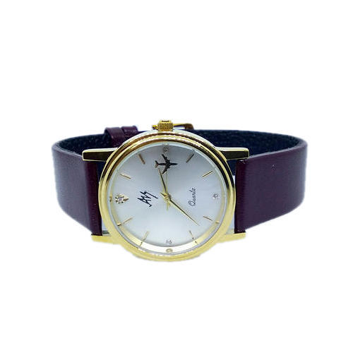Aviator Shopper Revolving Plane White Dial Wrist Watch