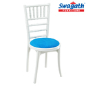 Posh Deluxe White and Blue Chair