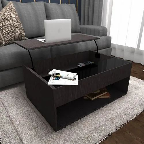 Brown Rectangular Cj Interio Wooden Stylish Coffee Table For Home Size 2 8 Feet Height Rs 1400 Square Feet Id 21993004212