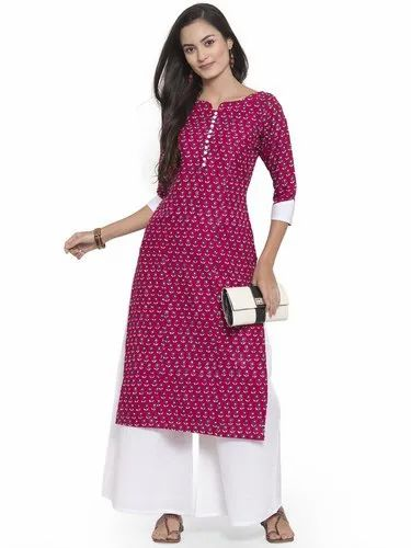 Cotton Casual Rayon Kurti, Age Group: 18 - 50