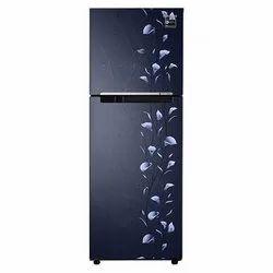Stainless Steel Direct Cool Double Door Samsung Refrigerator, Capacity: 253 Liter