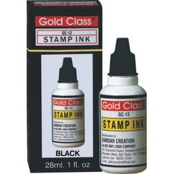 Gold Class 28 ml Black Self Stamp Ink