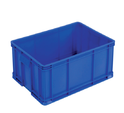 Blue Rectangular Fabricated Plastic Crates, Capacity: 100 Kg