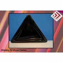 Acrylic Tri Wave Platter