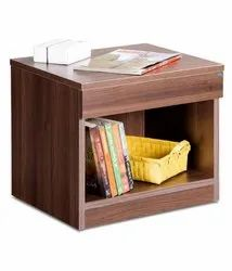 Wooden Brown Bed night stand side table, Number Of Drawer: 1, Size: H-18 X W-16 X D-15