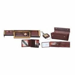 Buff Leather 4 in One Gift Set