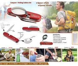 Red Stainless Steel 4 In 1 Travelling Spoon Set