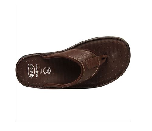 49c7ab11d Leather Scholl Brown Chappals For Men