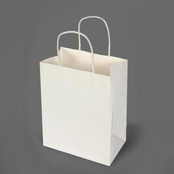 Plain White Paper Bag