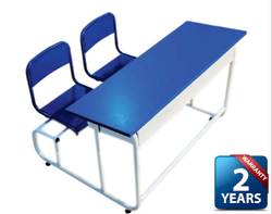 2 Seater Wooden Desk: Model CJ Alpha 3818-2