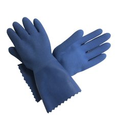 Blue Latex Supported Gloves