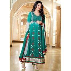 Green Party Wear Fancy Salwar Suit