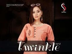 Twinkle Vol 2-SS Kurtis Casual Wear Cotton Block Print Kurtis