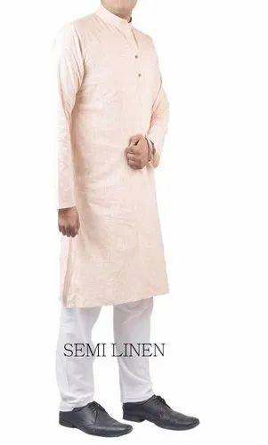 Semi Linen Kurta