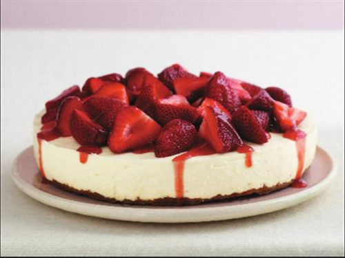 Strawberry Cheese Cake Unbaked