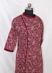 Ladies Cotton Kantha Print Kurti