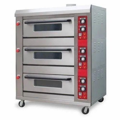 Three Deck Baking Oven Gas
