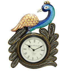 A Single Peacock Analoge Wall Clock