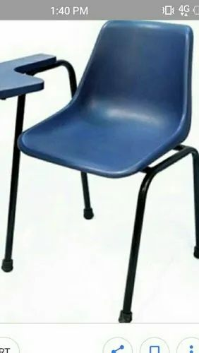 Blue Plastic Chair With Writing Pad