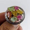 Multi Tourmaline Diamond Ring