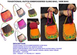 Casual Wear Traditional Kutch Embroidered Side Bag