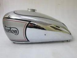 New Norton 16H Silver Painted Chrome Petrol Tank