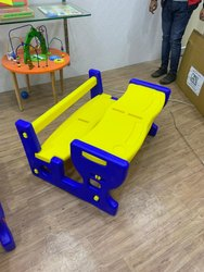 Yellow, Blue MEBEL Dual Study Desk