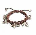 Unisex Brown Leather Cord Bracelet