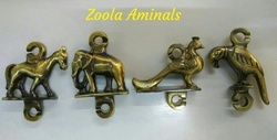 Bronze Brass Jhula Animal Set