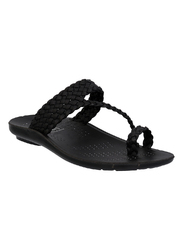 Mens Black Slippers
