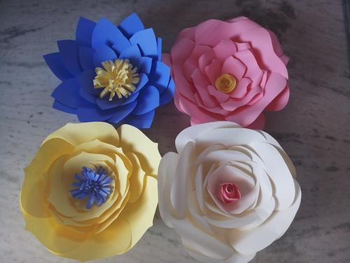 Large paper roses at rs 100 each uppal hyderabad id 12690627162 large paper roses mightylinksfo