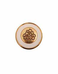 Golden & White Fancy Shank Button