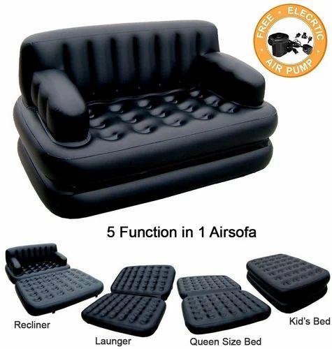 Black Plastic 5 In 1 Air Sofa Bed