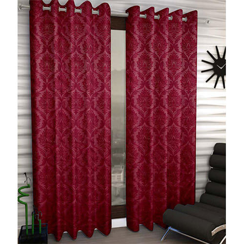 Maroon Cotton Toledo Claret Thermal Door Curtain