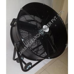 Black Steel Portable Fan
