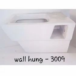 Alpine White 3009 Wall Hung Closet, For Bathroom Fitting