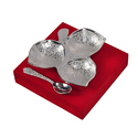 Silver Plated Three Leaf Platter